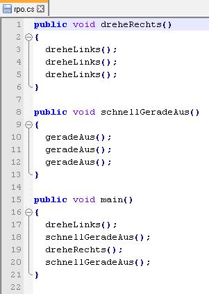 Hier wird ein Codeausschnitt aus der Programmiersprache C# gezeigt.