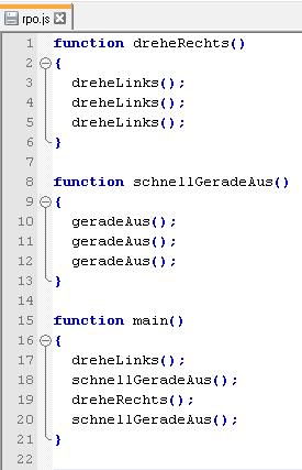 Hier wird ein Codeausschnitt aus der Programmiersprache Javascript gezeigt.