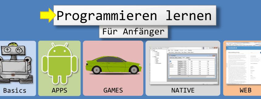 Programmieren Lernen für Anfänger: Basics, Apps, Games, Native und Web
