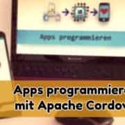 App und Laptop für Programmierung von Apps
