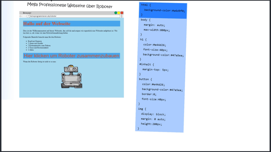 CSS Beispiel Webseite mit CSS