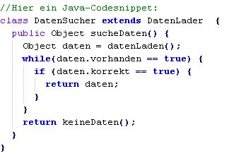 Java Codesnippet
