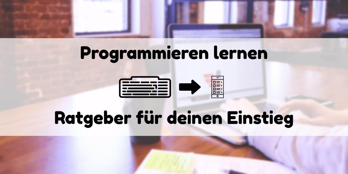 Headerbild für den Programmieren Lernen Ratgeber