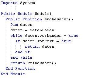 Visual Basic Codesnippet